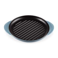Le Creuset Cast Iron 25cm Round Grill Marine