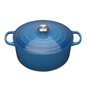 Le Creuset Signature Cast Iron 20cm Round Casserole Marseille Blue