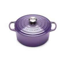 Le Creuset Signature Cast Iron 24cm Round Casserole Ultra Violet