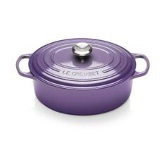 Le Creuset Signature Cast Iron 29cm Oval Casserole Ultra Violet