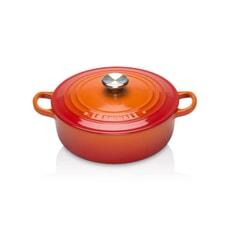Le Creuset Signature Cast Iron 24cm Round Chefs Pan Volcanic