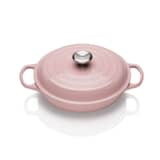 Le Creuset Signature Cast Iron 26cm Shallow Casserole Chiffon Pink