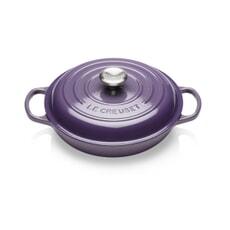 Le Creuset Signature Cast Iron 26cm Shallow Casserole Ultra Violet