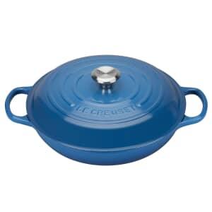 Le Creuset Signature Cast Iron 30cm Shallow Casserole Marseille Blue