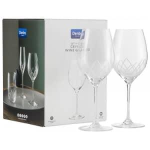 Denby Crystal Lotus Wine Glasses Set Of 4