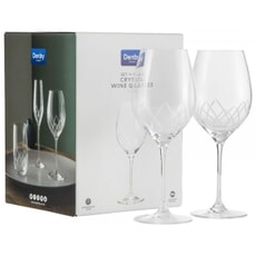 Denby Crystal Lotus Wine Glasses Set Of 4