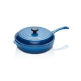 Le Creuset Signature Cast Iron 30cm Round Saute Pan Marseille Blue