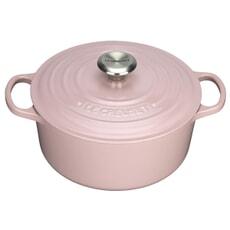 Le Creuset Signature Cast Iron 22cm Round Casserole Chiffon Pink
