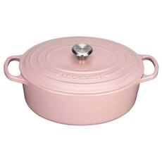 Le Creuset Le Creuset Cast Iron 31cm Oval Casserole Chiffon Pink