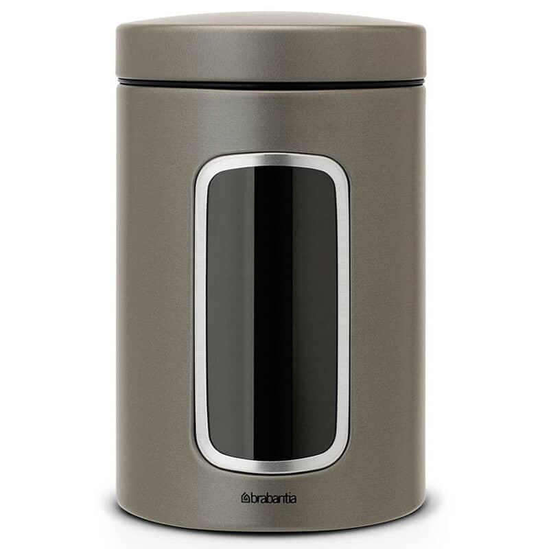 Brabantia Window Canister 1.4L Platinum