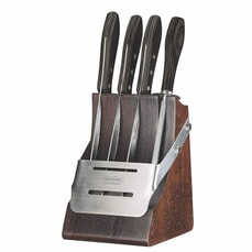Tramontina 5 Piece Knife Block Set (3 Knives/1 Sharperner/1 Block)