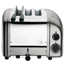 Dualit Classic Vario Combi AWS 2+1 Toaster Metallic Silver 31210