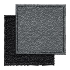 Denby Black Grey Reversable Faux Leather Coasters Set Of 4