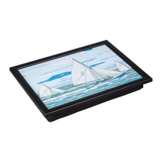 Denby Lap Trays - Sailing With Black Trim