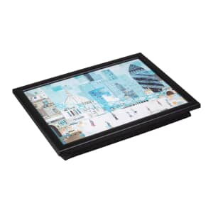 Denby Lap Trays - London Scene With Black Edge