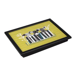 Denby Lap Trays - Cow With Black Edge