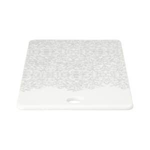 Denby Monsoon Filigree Silver Ceramic Platter
