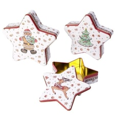 Villeroy and Boch Winter Bakery Biscuit Tin Star Set Of 3