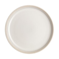 Denby Natural Canvas Textured Dinner Coupe Plate
