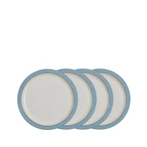 Denby Elements Blue 4 Piece Medium Plate Set