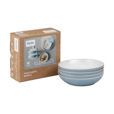 Denby Elements Blue 4 Piece Pasta Bowl Set