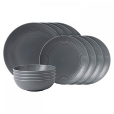 Royal Doulton Gordon Ramsay Maze Dark Grey 12 Piece Set