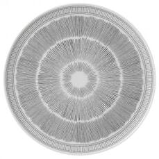 Royal Doulton Ellen DeGeneres Charcoal Grey Lines Platter