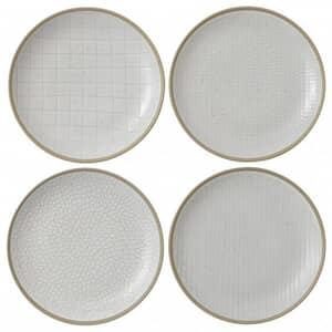 Gordon Ramsay Maze Grill Hammer White - Set Of 4 Salad Plates Mixed