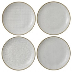Gordon Ramsay Maze Grill Hammer White - Set Of 4 Salad Plates Mixed