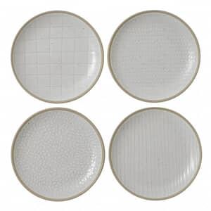 Gordon Ramsay Maze Grill Hammer White - Set Of 4 Side Plates Mixed