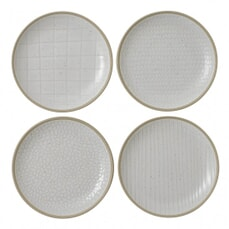 Gordon Ramsay Maze Grill Hammer White - Set Of 4 Side Plates Mixed