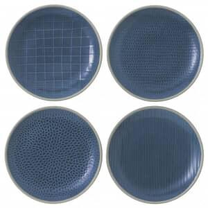 Gordon Ramsay Maze Grill Hammer Blue - Set Of 4 Salad Plates Mixed
