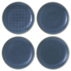 Gordon Ramsay Maze Grill Hammer Blue - Set Of 4 Salad Plates Mixed
