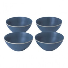 Gordon Ramsay Maze Grill Hammer Blue - Set Of 4 Bowls Mixed