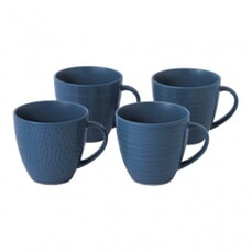 Gordon Ramsay Maze Grill Hammer Blue - Set Of 4 Mugs Mixed