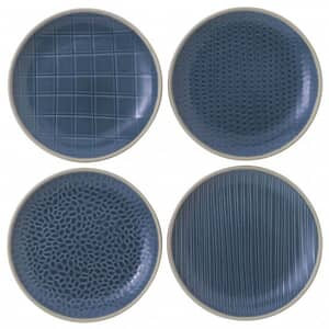 Gordon Ramsay Maze Grill Hammer Blue - Set Of 4 Side Plates Mixed