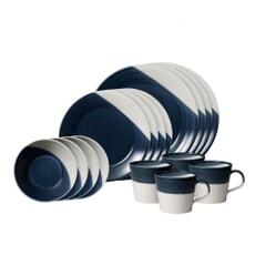 Royal Doulton Bowls Of Plenty 16 Piece Box Dark Blue
