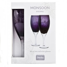 Denby Monsoon Cosmic Red Wine Glasses Pack Of 2