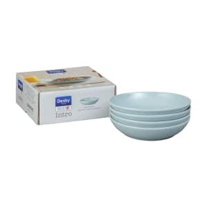 Denby Intro Pale Blue Pasta Bowl Set Of 4
