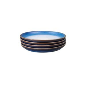 Denby Blue Haze Coupe Small Plate Set Of 4
