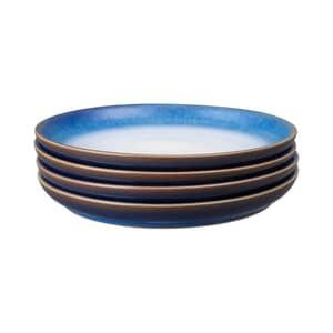 Denby Blue Haze Coupe Medium Plate Set Of 4