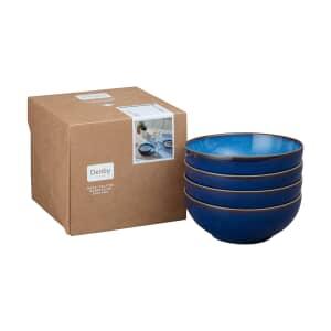 Denby Blue Haze Coupe Cereal Bowl Set Of 4