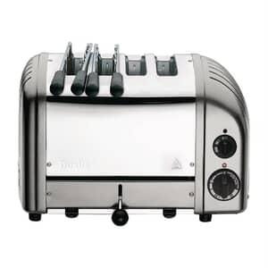 Dualit Classic Vario AWS Combi 2x2 Toaster Metallic Silver 42171