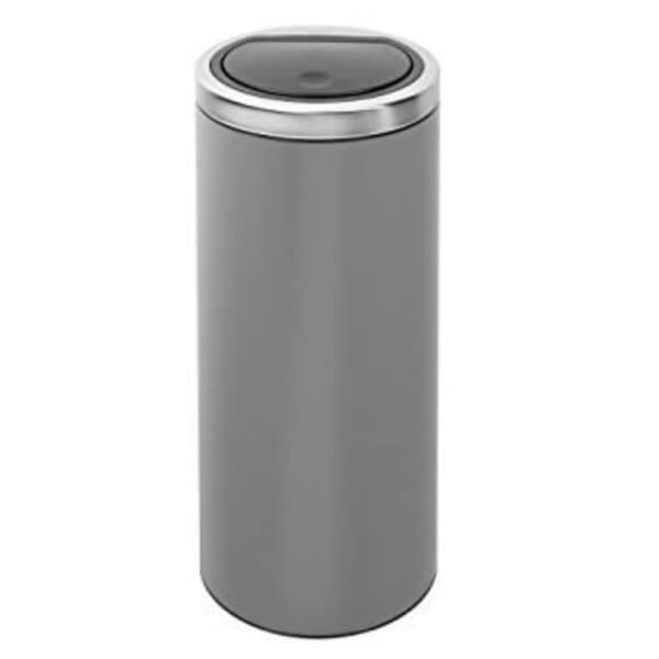 Touch Bin Flat Top.Brabantia Flat Top Touch Bin 30l Platinum