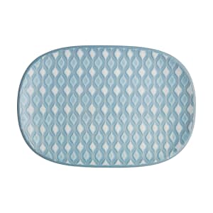 Denby Impression Blue Accent Medium Oblong Platter