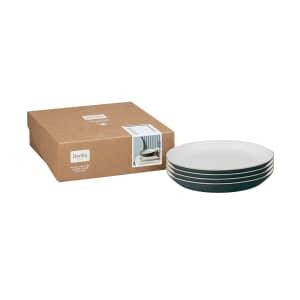 Denby Impression Charcoal Medium Plate Set Of 4