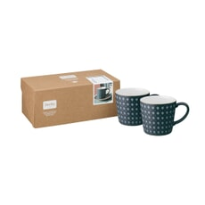 Denby Impression Charcoal Diamond Large Mug Set Of 2