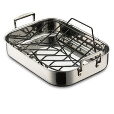Le Creuset 3 Ply Stainless Steel 35cm Roaster with Rack
