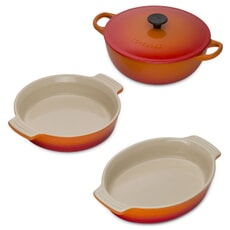 Le Creuset 3 Piece Mixed Cookware Set Volcanic