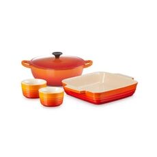 Le Creuset Classic Mixed Cookware Set Volcanic